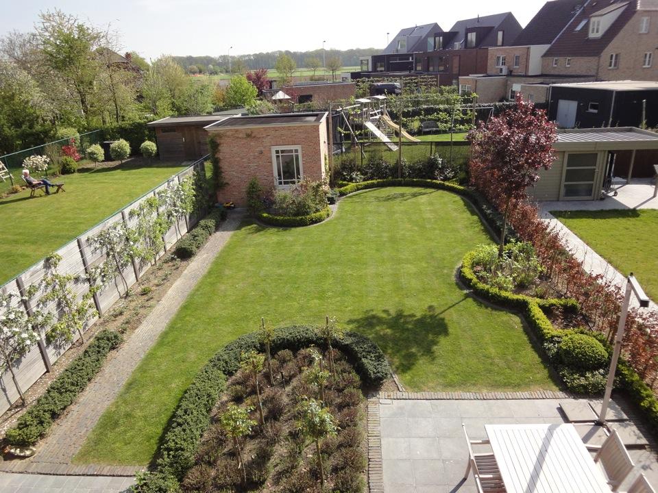 Fotos van een landelijke tuin