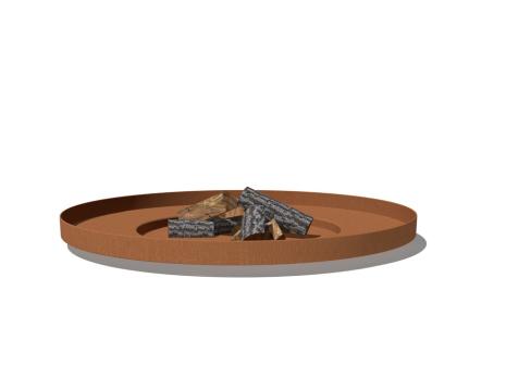 De Tuinman - Tuinonderhoud - vuurhaard - vuurschaal BORC  nieuw + hout