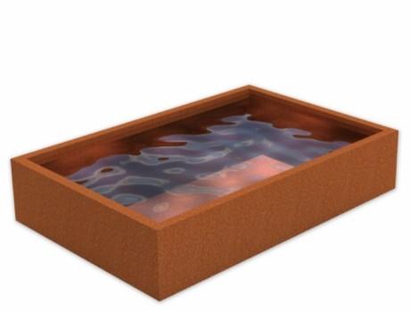 De Tuinman - AAnleg en onderhoud - waterlementen VC01 3000x2000x600 corten www