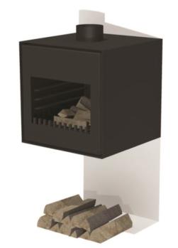 De Tuinman – Tuinaanleg – vuurhaard – THOR wand zwart