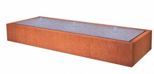 De Tuinman – Tuinonderhoud – WATERTAFEL CORTEN 3000×1000 – kopie
