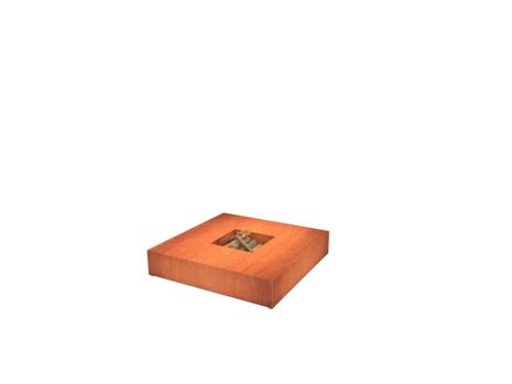 De Tuinman – Tuinonderhoud – vuurtafel – VUURTAFEL CORTEN 1400x1400x280
