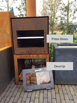 Pizza-steen—deurtje