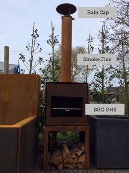 Smoke-flue—Rain-Cap—BBQ-grill