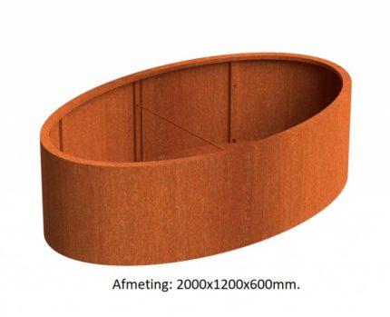 ellipse-cortenstaal-plantenbak